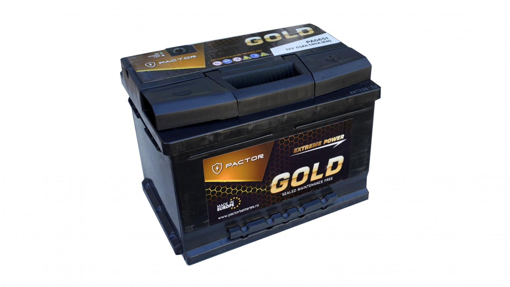 Baterie auto PACTOR GOLD