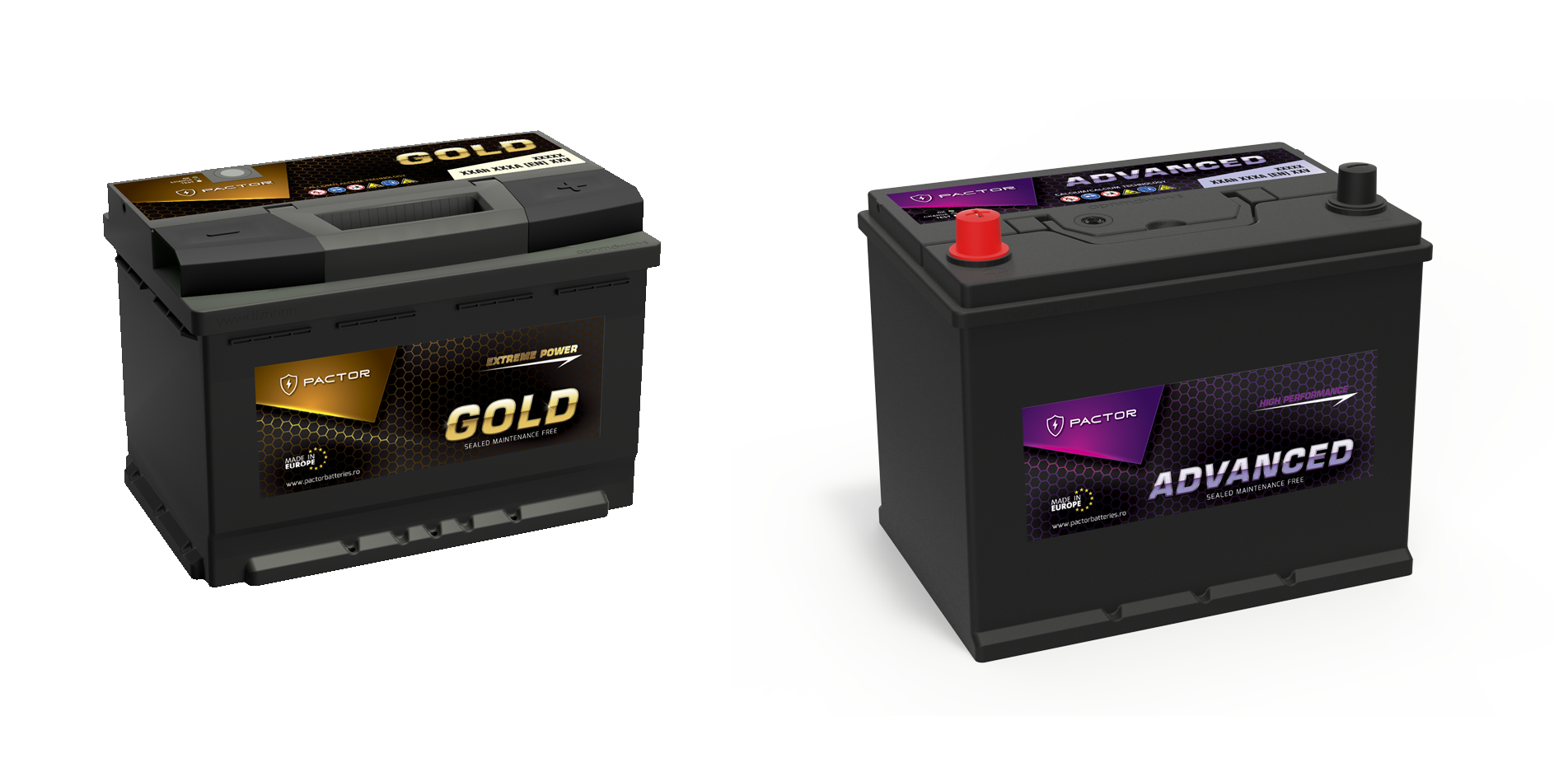 Baterii Auto Pactor Gold si Advanced